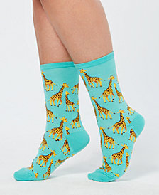 Hot Sox Women's Giraffe Crew Socks