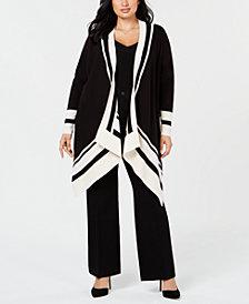 Anne Klein Plus Size Colorblocked Cardigan