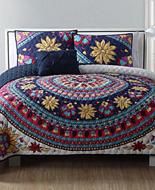 VCNY Home Ahimsa Medallion Reversible 3-Pc. Twin XL Quilt Set