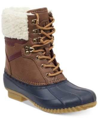 tommy hilfiger dyan lace up winter boots boots shoes macy\u0027s  tommy hilfiger rian lace u