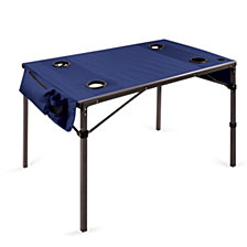 Picnic Time Navy Travel Table Portable Folding Table