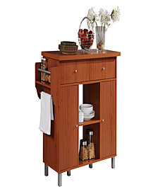 Kitchen Island with Spice Rack plus Towel Holder in Cherry