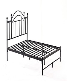 Complete Platform Full-Size Bed with Headboard, Slats and Rails