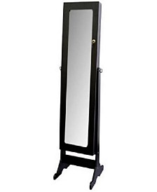 Tall Standing Mirror with Jewelry Storage