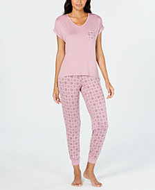 Alfani 2-Pc. Pajama Pants Set, Created for Macy's