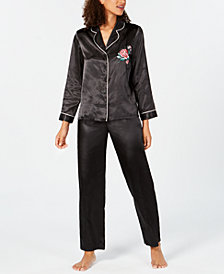 Thalia Sodi Embroidered Pajama Set, Created for Macy's