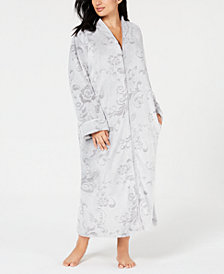 Charter Club Plus Size Long Zip Robe, Created for Macy's