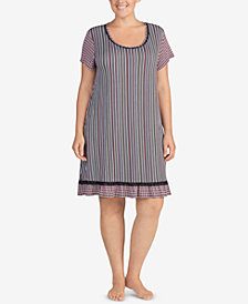 Layla Plus Size Mixed-Print Sleepshirt
