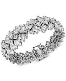 Cubic Zirconia Baguette Bracelet in Sterling Silver