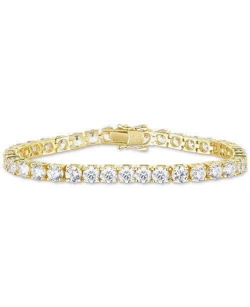 Swarovski Zirconia Link Bracelet In 18k Gold Plated Sterling Silver