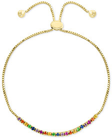 EFFY® Multi-Gemstone (1 ct. t.w.) Slider Bracelet in 14k Gold