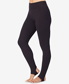 Cuddl Duds Smooth Layer Wide-Waistband Leggings