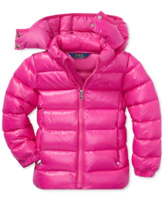 Ralph Lauren Childrenswear Girls Hooded Puffer Jacket Large