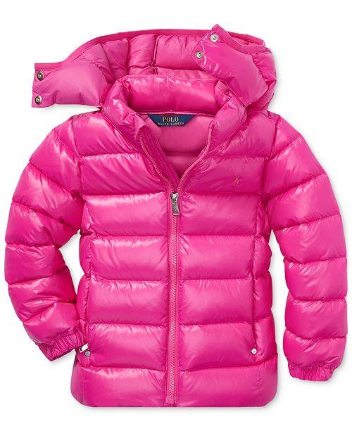 6c4035214 Polo Ralph Lauren Toddler Girls Hooded Down Jacket   Reviews - Coats ...