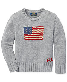Polo Ralph Lauren Little Boys Graphic Cotton Sweater
