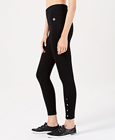 Calvin Klein Performance High-Waist Side-Snap Leggings