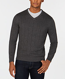 Club Room Men's Textured V-Neck Sweater, Created for Macy's
