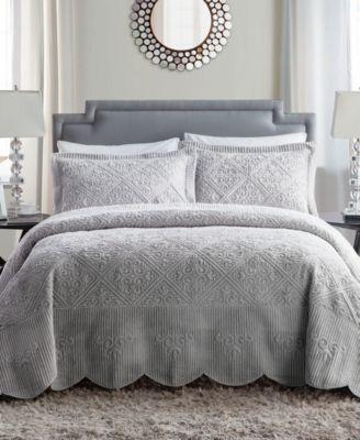 Westland 2-Pc. Twin Plush Bedspread Set