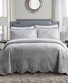 Westland 3-Pc. Full Plush Bedspread Set