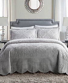 VCNY Home Westland 3-Pc. Queen Plush Bedspread Set