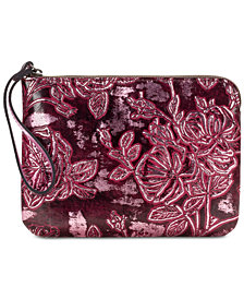Patricia Nash Bark Leaves Cassini Embossed Leather Wristlet, Created for Macy's