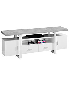 "TV Stand 60"" Cement-Look Top"