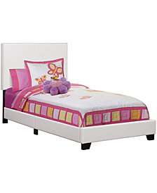 Bed Twin Size Leather-Look
