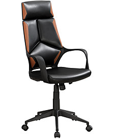 Office Chair Brown Leather-Look Executive