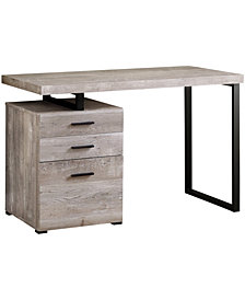 "Monarch Specialties Wood Grain 48""L Computer Desk in Taupe"