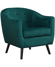 Monarch Specialties Accent Chair - Emerald Green Mosaic Velvet