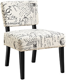 Monarch Specialties Accent Chair - Vintage French Fabric