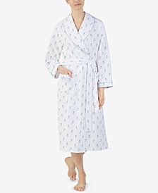 Eileen West Printed Matelasse Wrap Robe