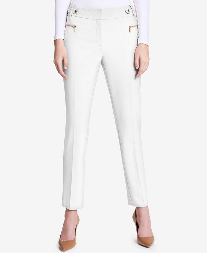 Calvin Klein - Zip-Pocket Straight-Leg Pants