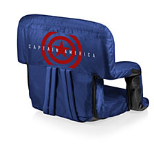 Picnic Time Captain America - Ventura Portable Reclining Stadium Seat