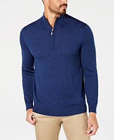 Club Room Men's Quarter-Zip Merino Wool Blend Sweater, Created for Macy's
