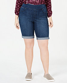 Style & Co Plus Size Pull-On Bermuda Shorts, Created for Macy's