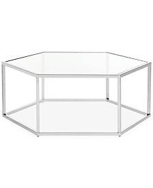 Eliana Glass Coffee Table, Quick Ship