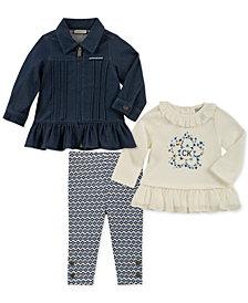 Calvin Klein Baby Girls 3-Pc. Jacket, Tunic & Leggings Set