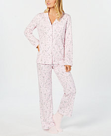 Charter Club Printed Pajama Set & Supersoft Cozy Socks  Sleep Separates, Created for Macy's