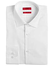 HUGO Men's Slim-Fit White Solid Dress Shirt
