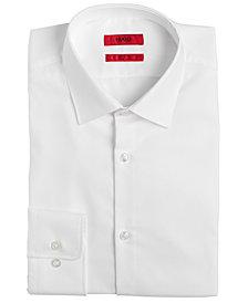 HUGO Men's Slim-Fit White Solid Dress Shirt