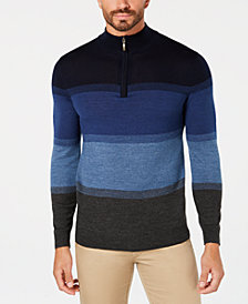 Club Room Men's Merino Birdseye Quarter-Zip Pullover, Created for Macy's