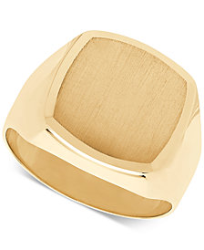 Men's Oval Cushion Band in 10k Gold