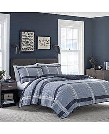 Nautica River Breeze Cotton Reversible Full/Queen Quilt