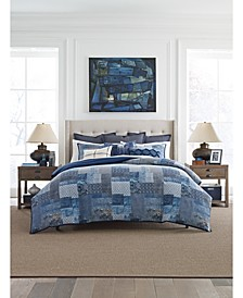 Oasis Indigo Patchwork Bedding Collection