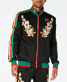 Reason Men's Dragons Embroidered Full-Zip Track Jacket