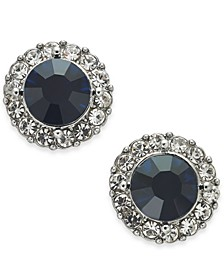 Gold-Tone Pavé & Stone Halo Stud Earrings, Created for Macy's