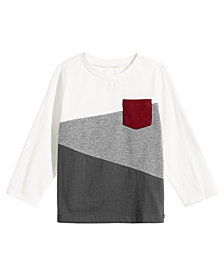 First Impressions Toddler Boys Colorblocked Pocket Cotton T-Shirt, Created for Macy's