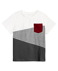 First Impressions Baby Boys Colorblocked Pocket Cotton T-Shirt, Created for Macy's