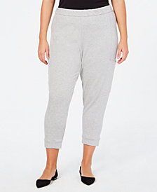 Eileen Fisher Tencel® Plus Size Cropped Sweatpants